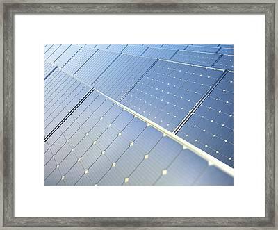 Photovoltaic Panels Framed Print
