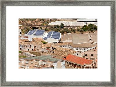 Photovoltaic Panels On A Roof Framed Print