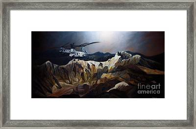 Phrogs Over Afghanistan Framed Print by Stephen Roberson
