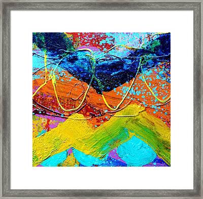 Phthalo Chevron Framed Print by John  Nolan