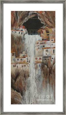 Phuktal Gonpa Monastery During Monsoon Season Framed Print