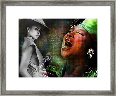 Phyllis Hyman Framed Print