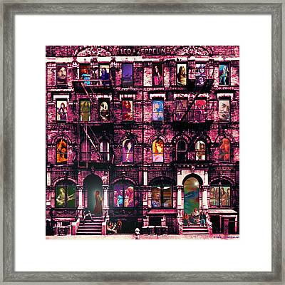 Physical Graffitied  Framed Print