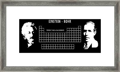 Physicists Periodic Table Framed Print