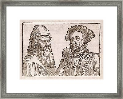 Physiognomy Comparison Framed Print