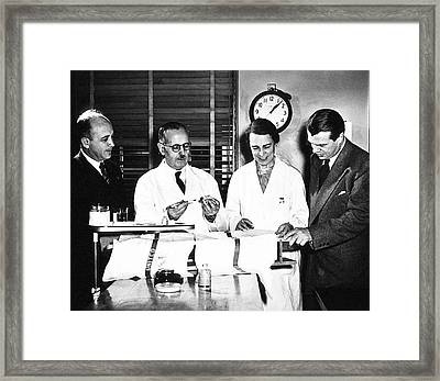Physiology Researchers Framed Print