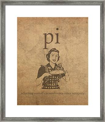 Pi Affecting Overall Circumference Since Antiquity Humor Poster Framed Print by Design Turnpike
