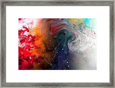 Pi Galaxy Framed Print by Petros Yiannakas
