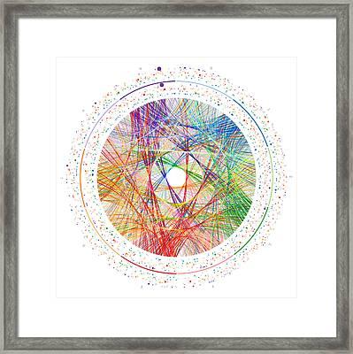 Pi Transition Paths Framed Print