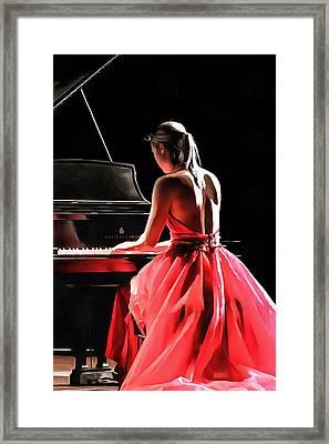 Pianist Framed Print