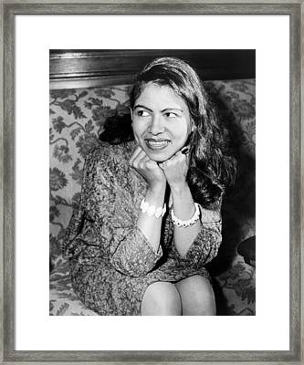 Pianist Philippa Schuyler Framed Print by Fred Palumbo