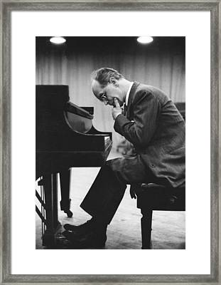 Pianist Rudolf Serkin Framed Print by Underwood Archives