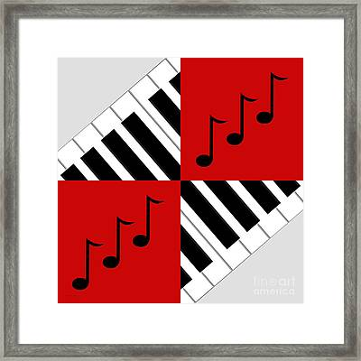 Piano Abstract 3 Framed Print by Andee Design