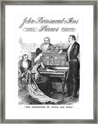 Piano Advertisement, 1888 Framed Print by Granger