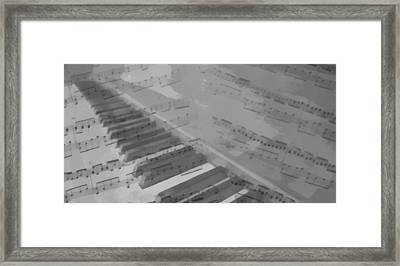 Piano And Notes Framed Print by Dan Sproul