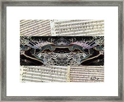 Piano Barojazz Scores Framed Print by Ha Imako