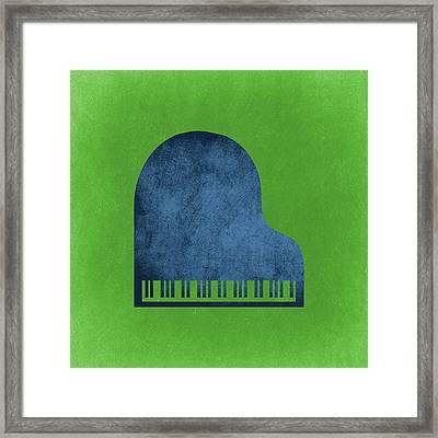 Piano Blues Framed Print