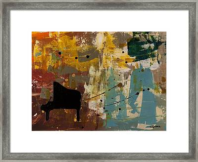 Piano Concerto Framed Print by Carmen Guedez