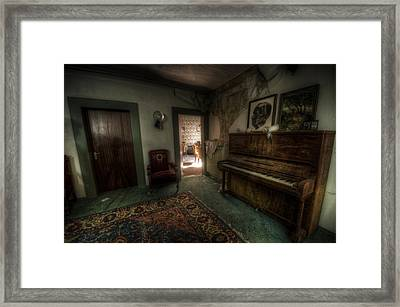Piano Corner Framed Print by Nathan Wright