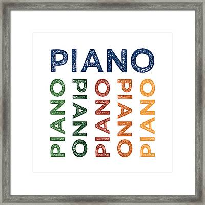 Piano Cute Colorful Framed Print by Flo Karp