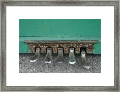 Piano Feet Framed Print by Paulette Maffucci