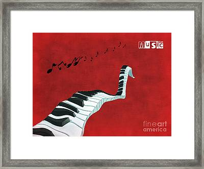 Piano Fun - S01at01 Framed Print by Variance Collections