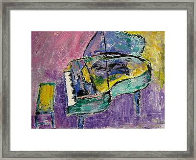 Piano Green Framed Print