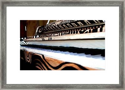 Piano In The Dark - Music By Diana Sainz Framed Print