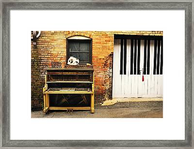 Piano Keys Framed Print by Joe Longobardi