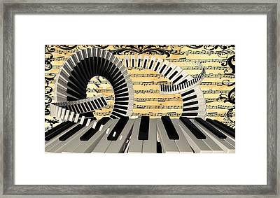 Piano Keys  Framed Print