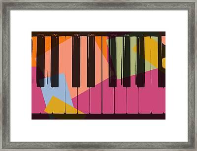 Piano Keys Pop Art Framed Print by Dan Sproul