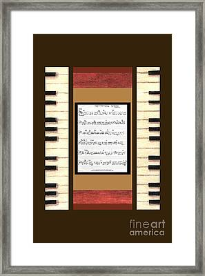 piano keys sheet music to Keep Of The Promise by Kristie Hubler Framed Print by Kristie Hubler