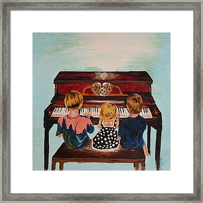 Piano Lesson Framed Print by Brandy Nicole Neal