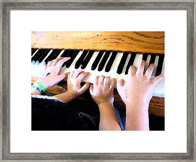 Piano Lessons Framed Print