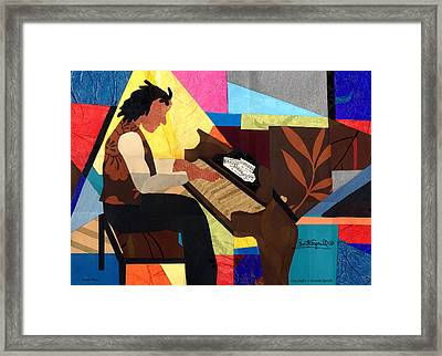 Piano Man Framed Print by Everett Spruill