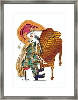 Framed Print featuring the digital art Piano Man by Marvin Blaine