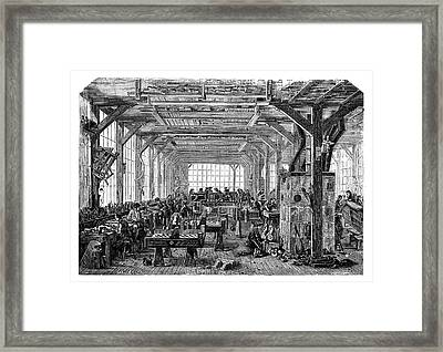 Piano Manufacturing Framed Print by Science Photo Library