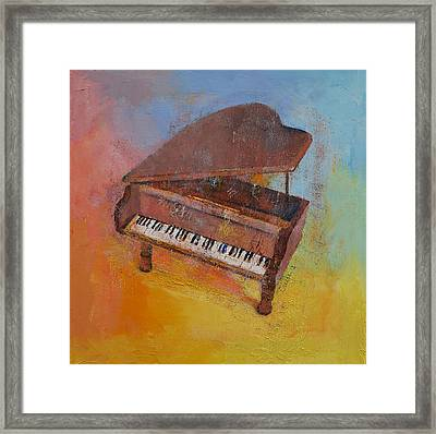 Toy Piano Framed Print by Michael Creese