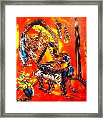 Piano Music Framed Print by Mark Kazav