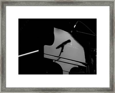 Piano Needs A Microphone Framed Print by Tony Reddington