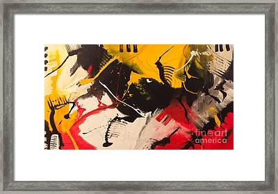 Piano On Fire Framed Print by Vladinsky