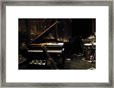Piano Over Manhatten Framed Print