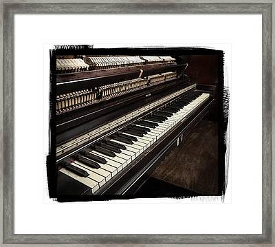 Piano Framed Print by Patrick Chuprina
