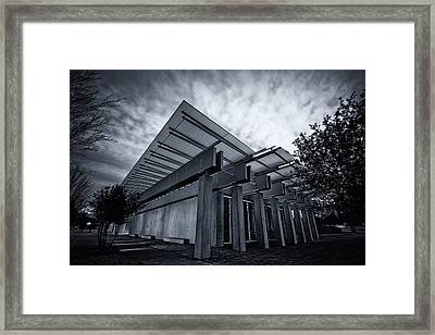 Piano Pavilion Bw Framed Print by Joan Carroll