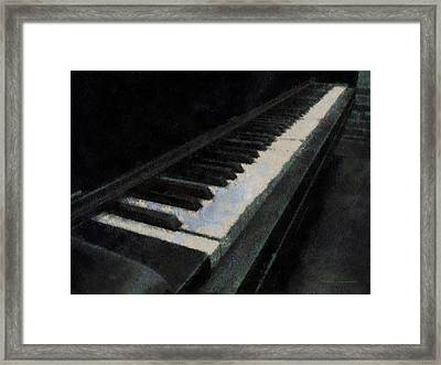 Piano Photo Art 02 Framed Print by Thomas Woolworth
