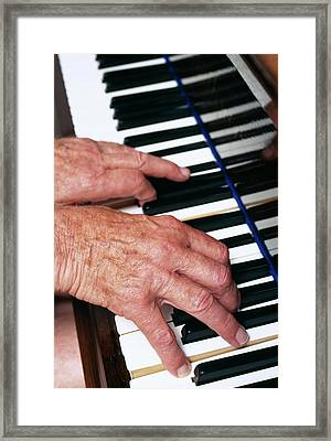 Piano Playing Framed Print by Jerry Mason/science Photo Library