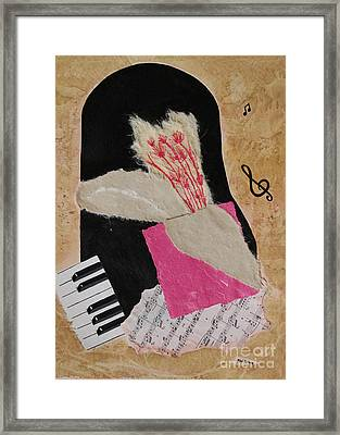 Framed Print featuring the painting Piano Still Life by Mini Arora