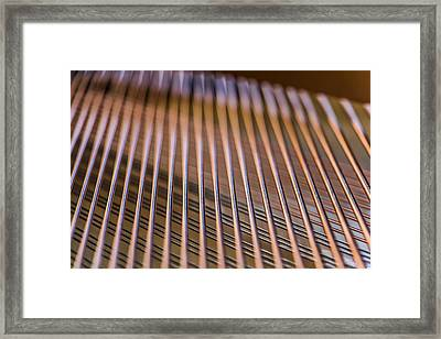 Piano Strings Framed Print by Chris McCown