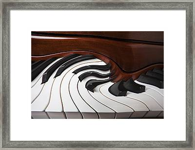 Piano Surrlistic Framed Print by Garry Gay