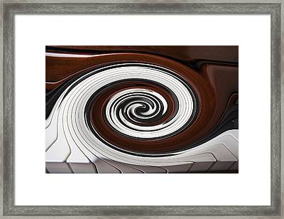 Piano Swirl Framed Print by Garry Gay